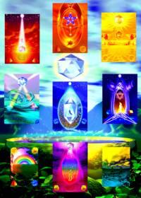 Ashamah-Poster mit allen Symbolbildern